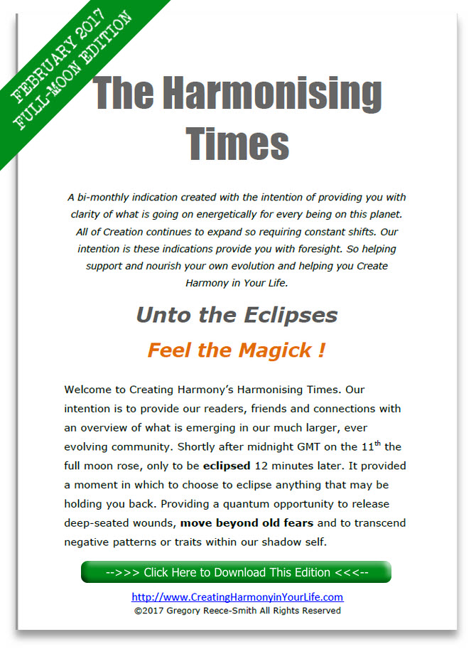 Harmonising Times February Full Moon Edition