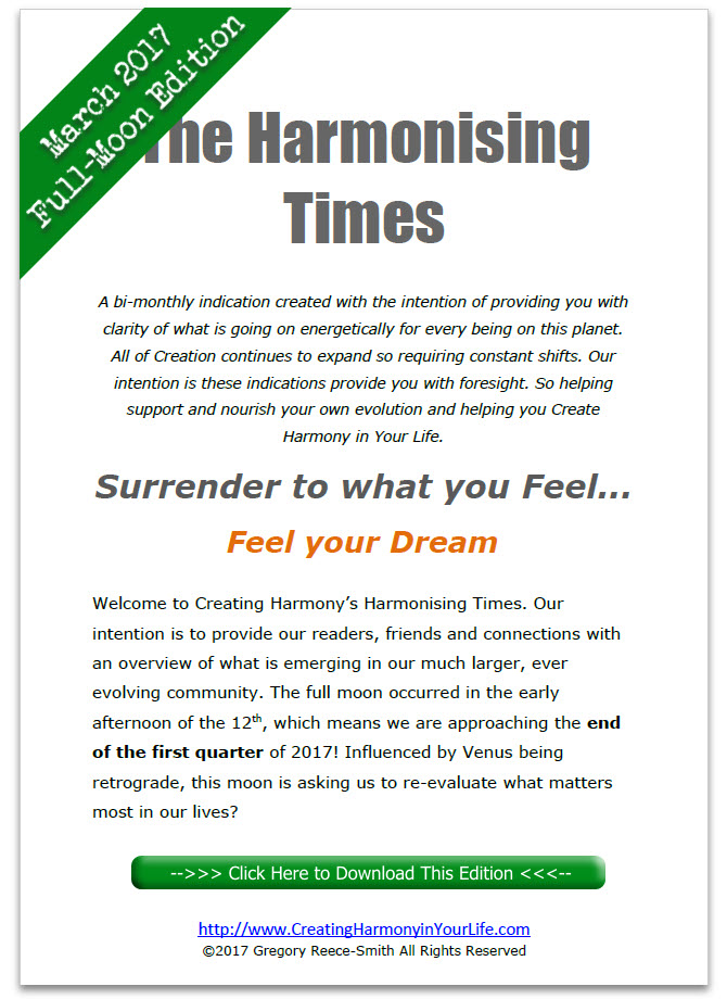 Harmonising Times March 2017 Full Moon Edition